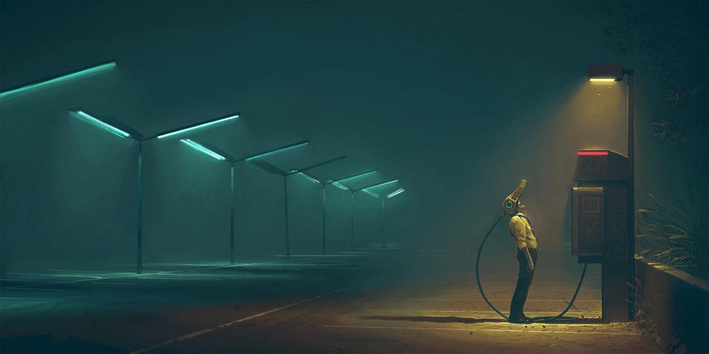 Ur Simon Stålenhags Passagen Illustration: Simon Stålenhag